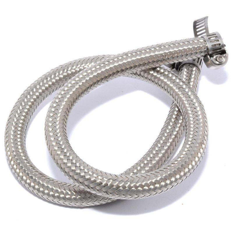 Tubo Gasolina 5mm a 6mm Trenzado Inox Easyboost Gomma Rinforzata Acciaio Inox 45cm