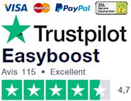 Trustpilot Easyboost Avis client