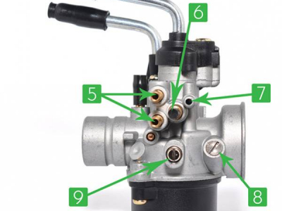 How to adjust a 17.5 mm carburettor on scooter 50 Booster, Nitro, AM6 or Derbi?